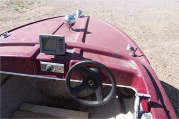 14 foot boat, motor and trailer - $800 (Rifle)