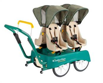 Kindervan 4-child push cart