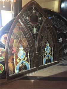Large Vintage Stained Glass
