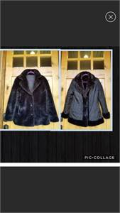 Pacific Rose Faux Fur Jacket Reversible  Size Medium, unworn with no tags.