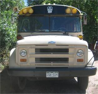 Tiny house on wheels... 1974 Chevrolet yellow school bus