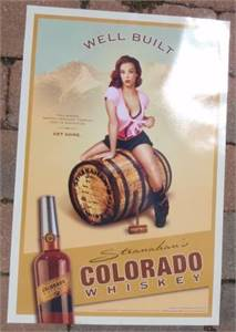 Original Stranahan's Colorado Whiskey poster - Well Built