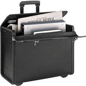 Classic Rolling Catalog Case, Black with dual combination locks