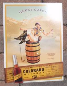 Original Stranahan's Colorado Whiskey poster - Great Catch