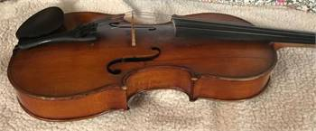 Old Violin, Arthur Knorr Bow in Leather Case