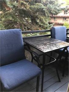 Outdoor Chairs and Side Table Set